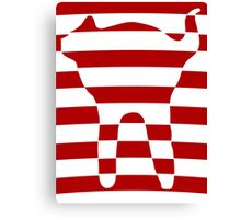 red striped cat 3 Canvas Print
