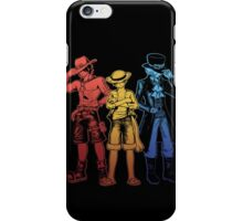 Brothers - orange/yellow/blue iPhone Case/Skin