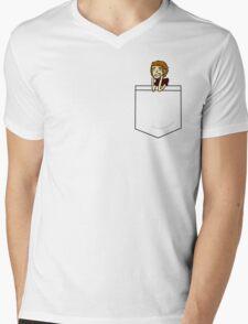 a pocket boy Mens V-Neck T-Shirt