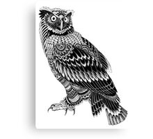 Tribal Owl Canvas Print