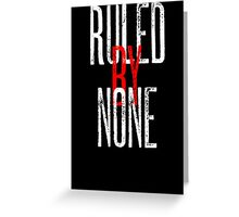 Ruled By None Sex Pistols Inspired Anarchist Design Greeting Card
