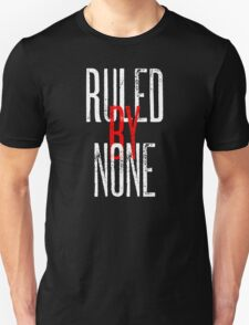 Ruled By None Sex Pistols Inspired Anarchist Design T-Shirt