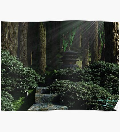 Stroll in Ancient Woods Poster