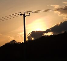Pylon Sunset by buttonsemporium