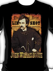 John Wilkes Booth American Assassins Design T-Shirt