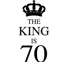 The King Is 70 by thepixelgarden