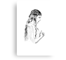 Galadriel, most beautiful of all the house of Finwe.  Canvas Print