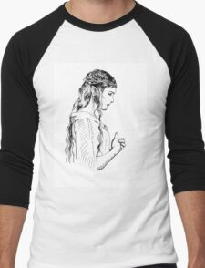 Galadriel, most beautiful of all the house of Finwe.  Men's Baseball ¾ T-Shirt