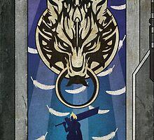 Final Fantasy VII - Cloud - Art Deco by Firenutdesign