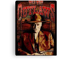 Wild West Outlaws Cowboy Design Canvas Print