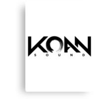 KOAN Sound B&W Canvas Print