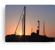 Harbour sunset Canvas Print