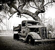 Creepy Vintage Truck by AlphaEyePhoto