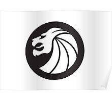 Seven Lions Head Logo Poster