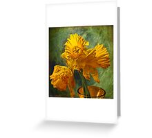 When something beautiful dies Greeting Card