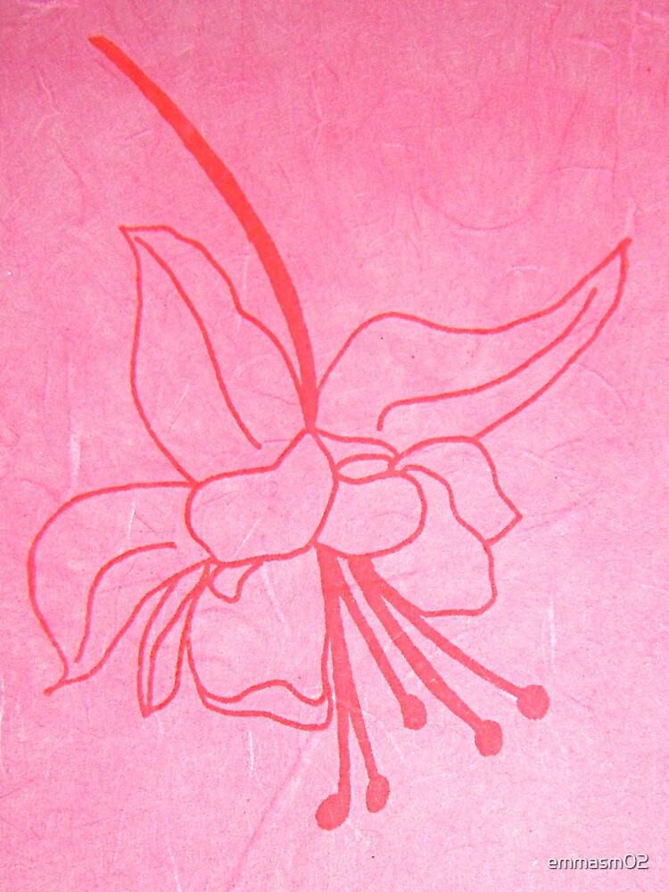 Hanging Spider Flower, Hand Drawn Screen Print on Silk Paper, 2008 by emmasm02