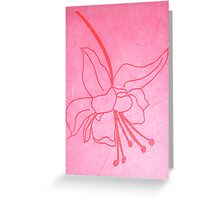 Hanging Spider Flower, Hand Drawn Screen Print on Silk Paper, 2008 Greeting Card