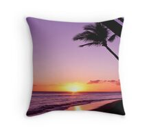 Purple Maui Sunset Throw Pillow