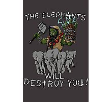 The elephants will destroy you! Photographic Print