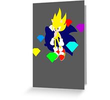 Super Smash Bros Super Sonic Greeting Card