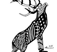 Abstract Stag by createdtocreate