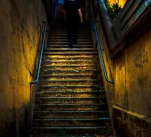 Dark Passage - Stairway in Darlinghurst, Sydney, Australia by Mark Richards