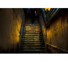 Dark Passage - Stairway in Darlinghurst, Sydney, Australia Photographic Print