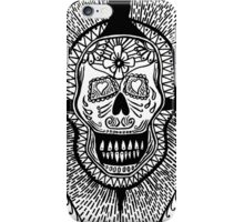 Mexican Skull black and white T Shirt iPhone Case/Skin