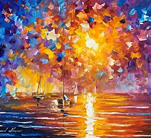 Sunrise In Playa Del Carmen — Buy Now Link - www.etsy.com/listing/230309456 by Leonid  Afremov