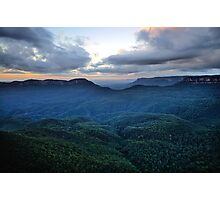 Morning Glory, - Blue Mountains World Heritage Area - The HDR Experience Photographic Print