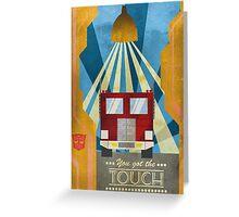 Transformers - Optimus Prime - Art Deco Style Greeting Card