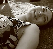 A smile from the grass by Stephen Denham
