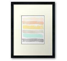 Pastel abstract art Framed Print