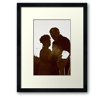 Here's cheers! Framed Print