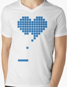 Heart Mens V-Neck T-Shirt