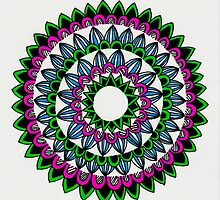 Colourful Mandala by JustineFisher