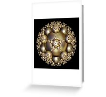 'Golden Pearl Cluster' Greeting Card