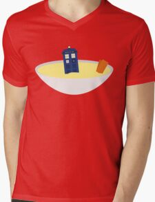 Fishfingers and Custard Mens V-Neck T-Shirt