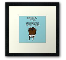 chamomile tea: regular show. Framed Print