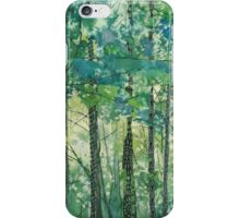 Walking in the Woods, mixed media and zentangles iPhone Case/Skin