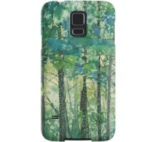 Walking in the Woods, mixed media and zentangles Samsung Galaxy Case/Skin