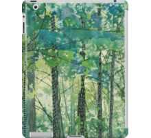 Walking in the Woods, mixed media and zentangles iPad Case/Skin