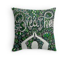 Breathe Buddha Zentangle Throw Pillow