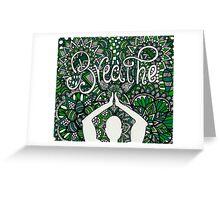 Breathe Buddha Zentangle Greeting Card