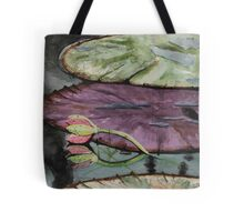 Limp lily on the pond Tote Bag