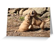 Wrestle Mania Puppy style '09 Greeting Card