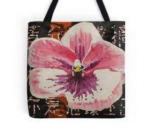 Flower on black background Tote Bag