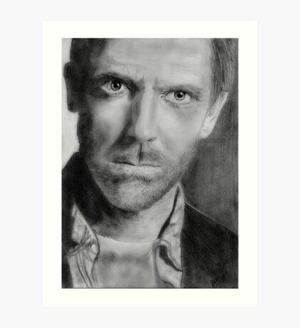 Hugh Laurie (Graphite) Art Print