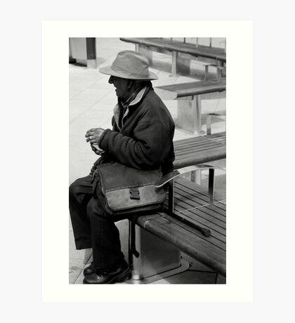 bench man Art Print
