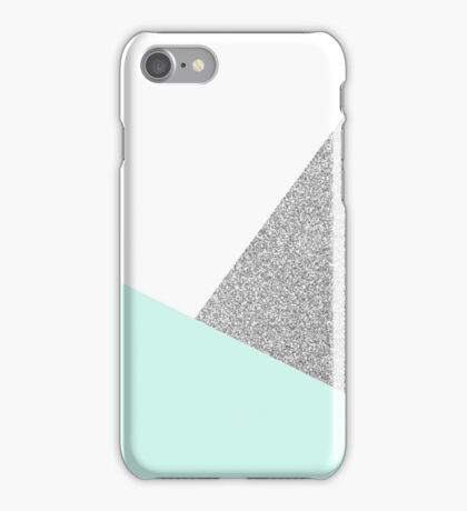 Teal and silver iPhone Case/Skin